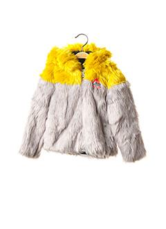 Manteau court gris CATIMINI pour fille