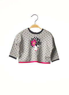 Pull col rond gris CATIMINI pour fille