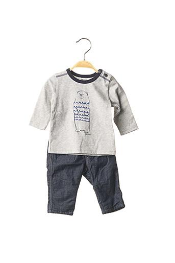Top/pantalon gris JEAN BOURGET pour garçon