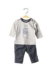 Top/pantalon gris JEAN BOURGET pour garçon seconde vue
