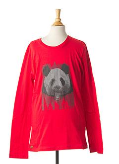 T-shirt manches longues rouge CATIMINI pour garçon