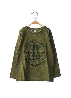 T-shirt manches longues vert ESPRIT pour garçon