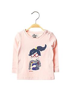 T-shirt manches longues rose JEAN BOURGET pour fille