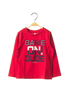 T-shirt manches longues rouge ESPRIT pour garçon