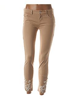 Jeans coupe slim beige LIU JO pour femme