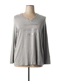T-shirt manches longues gris CHALOU pour femme