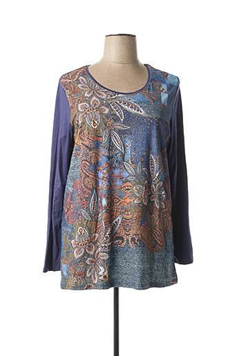 T-shirt manches longues bleu APRICO pour femme