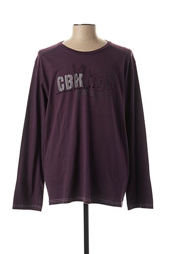 T-shirt manches longues violet CBK pour homme