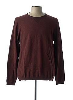 Pull col rond rouge EDC BY ESPRIT pour homme