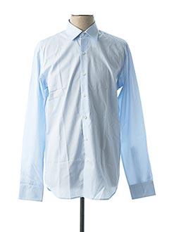 Chemise manches longues bleu FIGARET pour homme