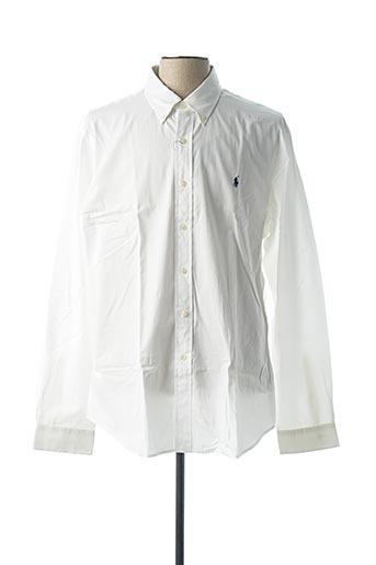 Chemise manches longues blanc RALPH LAUREN pour homme