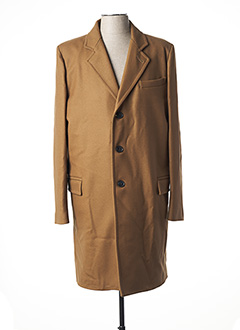 Manteau long beige GLOVERALL pour homme