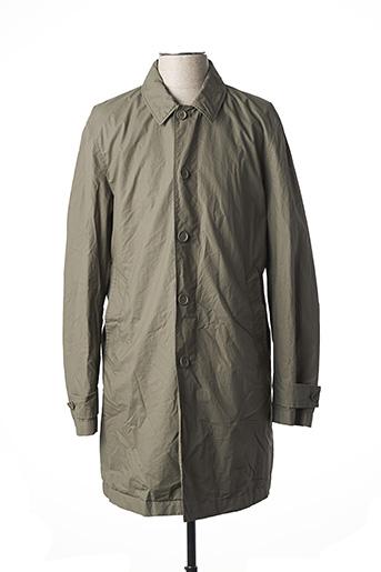 Manteau long vert MONTEDORO pour homme