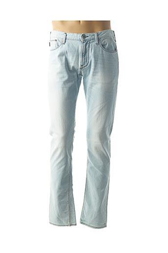 Jeans coupe droite bleu ARMANI pour homme
