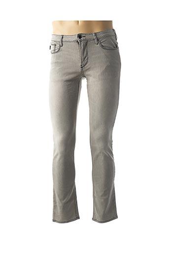 Jeans coupe slim gris ARMANI pour homme