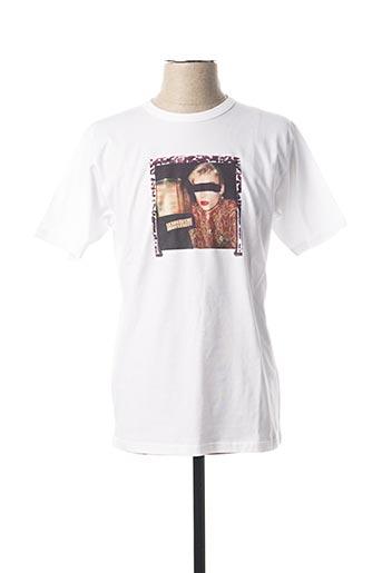 T-shirt manches courtes blanc AGNES B pour homme