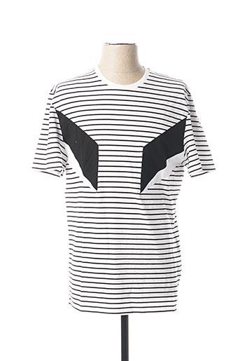 T-shirt manches courtes blanc NEIL BARRETT pour homme