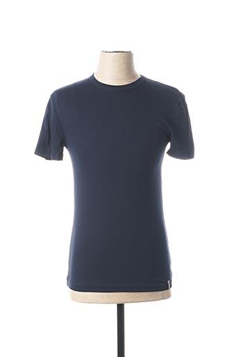 T-shirt manches courtes bleu DANIEL CREMIEUX pour homme
