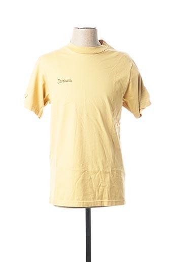 T-shirt manches courtes jaune FACETASM pour homme