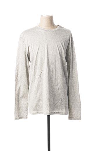 T-shirt manches longues gris E.TAUTZ pour homme