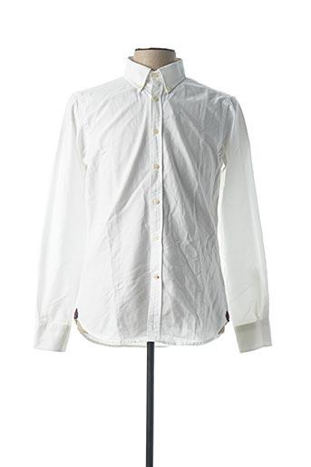 Chemise manches longues blanc DANIEL CREMIEUX pour homme