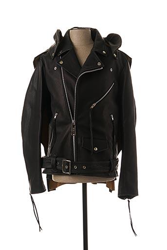 Veste en cuir noir MAISON MIHARA YASUHIRO pour homme