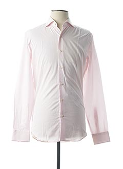 Chemise manches longues rose FIGARET pour homme