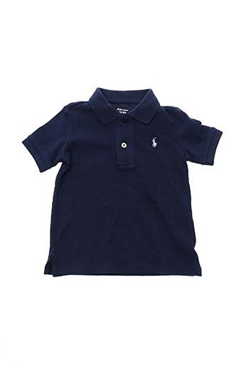 Polo manches courtes bleu RALPH LAUREN pour garçon