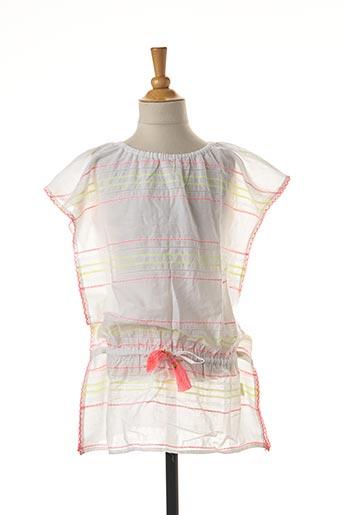 Robe mi-longue blanc SUNUVA pour fille