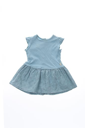 Robe mi-longue bleu PETIT BATEAU pour fille