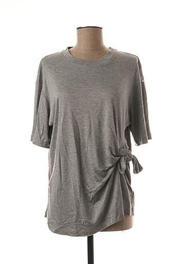 T-shirt manches longues gris VICTORIA BECKHAM pour femme