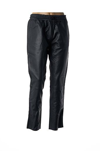 Pantalon casual noir MY SUNDAY MORNING pour femme