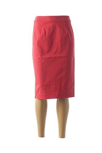 Jupe mi-longue rouge ARMANI pour femme
