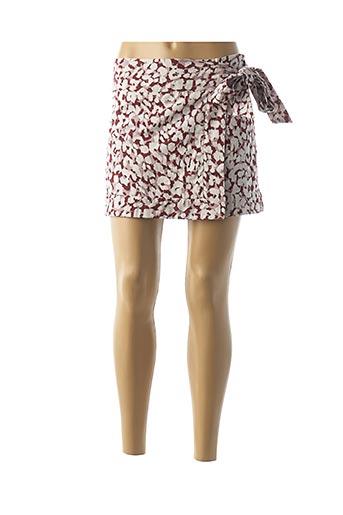 Mini-jupe rouge LOVE STORIES pour femme