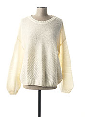 Pull col rond blanc MY SUNDAY MORNING pour femme seconde vue