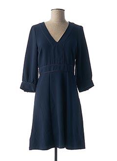 Robe mi-longue bleu LA PETITE FRANCAISE pour femme