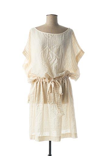 Robe mi-longue beige MY SUNDAY MORNING pour femme