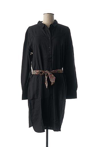 Robe mi-longue noir MY SUNDAY MORNING pour femme