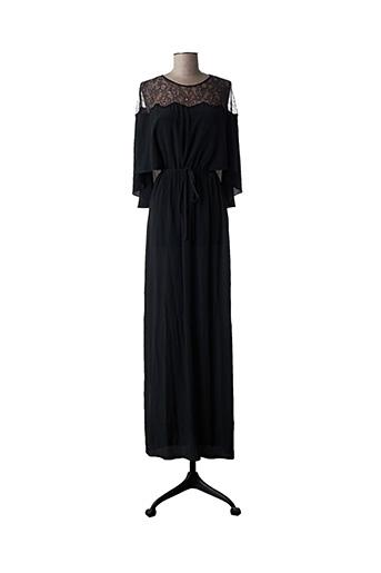 Robe longue noir PAULE KA pour femme
