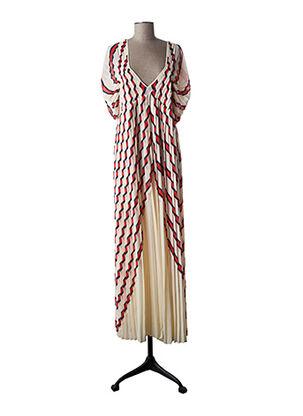 Robe mi-longue beige BY MALENE BIRGER pour femme