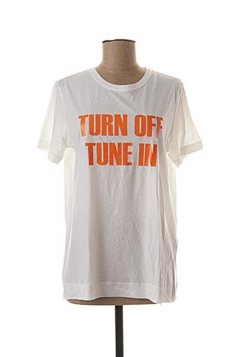 T-shirt manches courtes blanc BY MALENE BIRGER pour femme