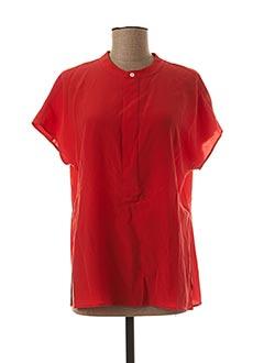 Blouse manches courtes rouge RALPH LAUREN pour femme