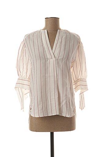 Blouse manches longues blanc BY MALENE BIRGER pour femme