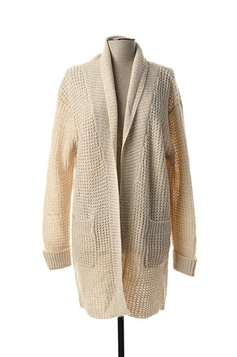 Gilet manches longues beige MY SUNDAY MORNING pour femme