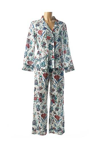 Pyjama blanc LEONIE pour femme