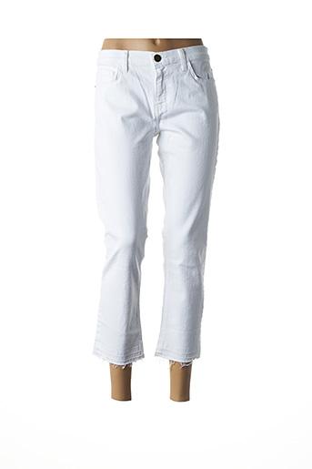 Jeans coupe droite blanc CURRENTE/ELLIOTT pour femme