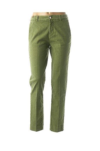 Pantalon casual vert ATELIER NOTIFY pour femme
