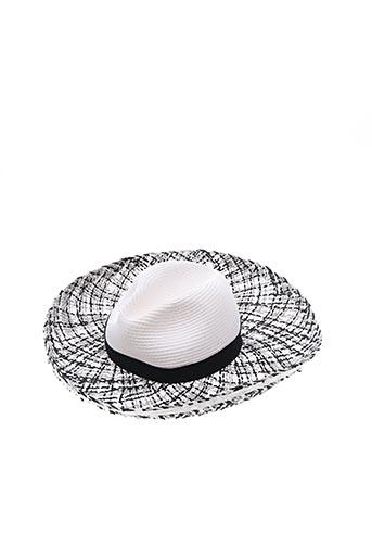 Chapeau blanc CELINE ROBERT pour femme