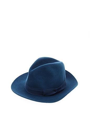 Chapeau bleu ANTHONY PETO pour femme