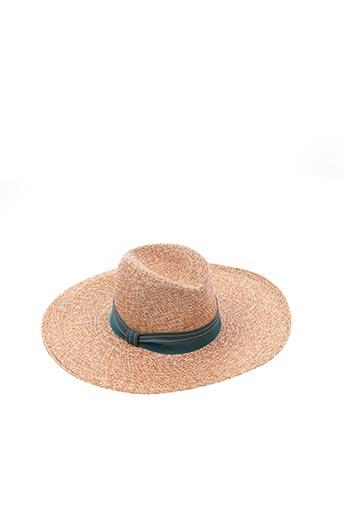 Chapeau jaune INVERNI pour femme